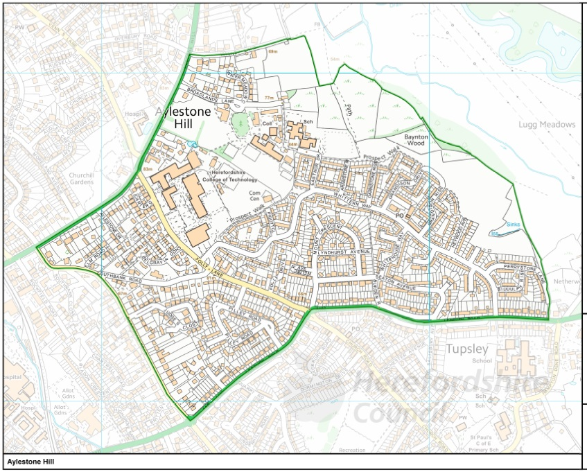 Aylestone Hill Ward Map