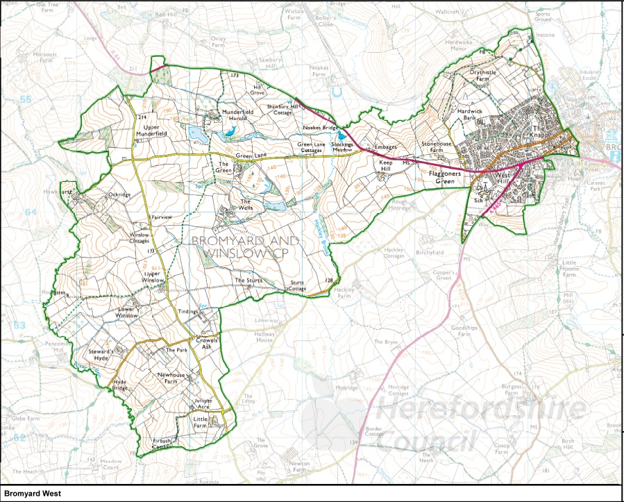 Bromyar West Ward Map