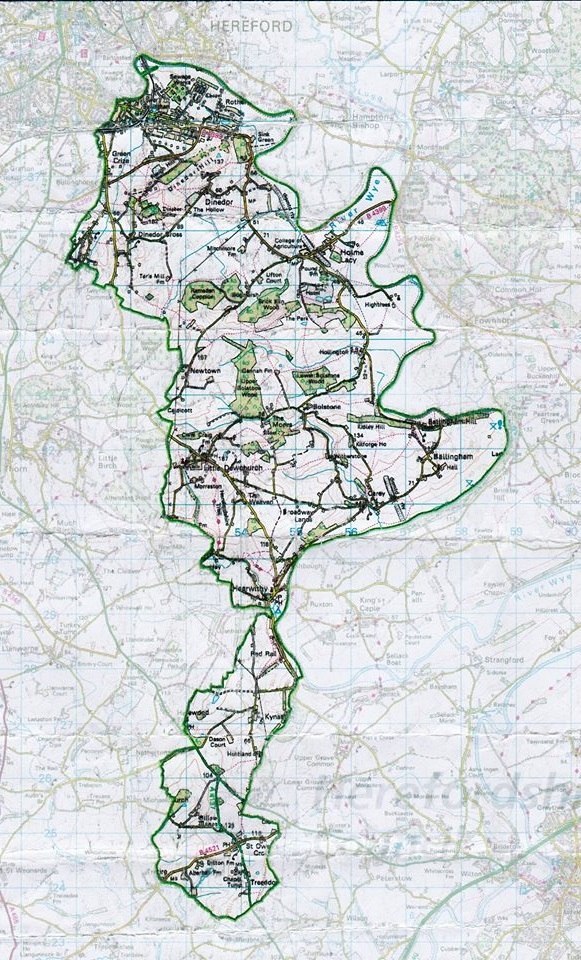 Dinedor Hill Ward Map