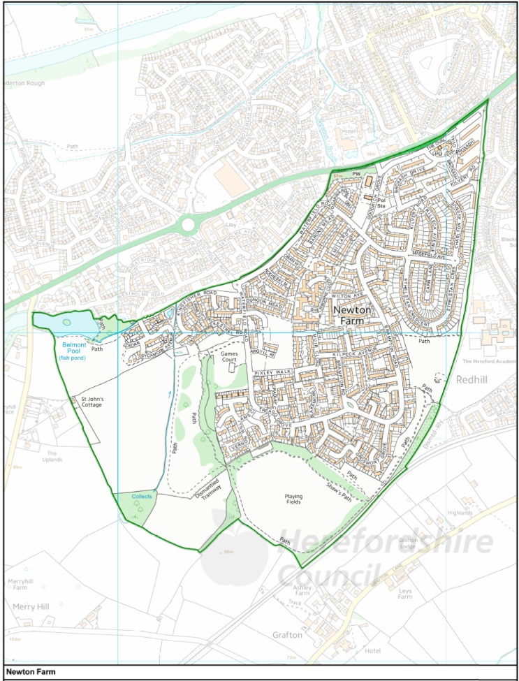 Newton Farm Ward Map