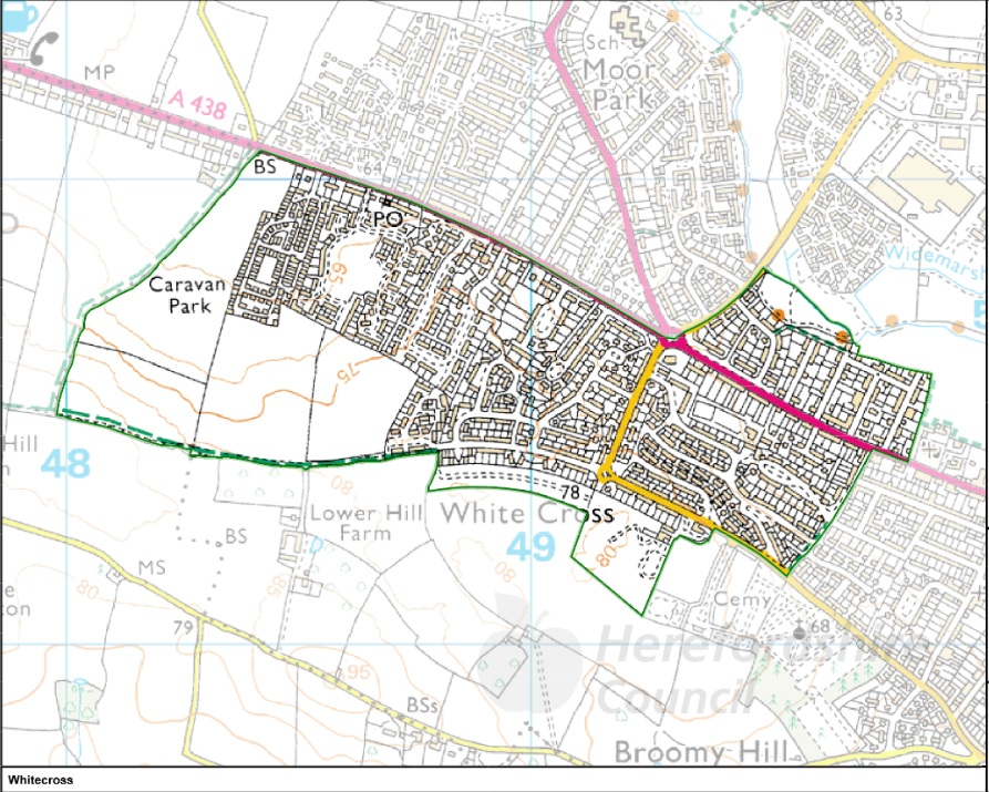 Whitecross Ward Map